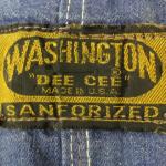 ワシントンディーシーのタグで見る年代の見分け方【WASHINGTON DEE-CEE】