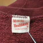 Health knit(ヘルスニット)タグで見る年代の見分け方